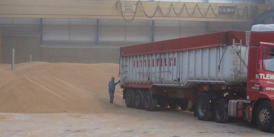 Concrete Grain Walling In Grain Store