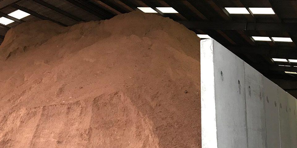 Grit Salt Storage Retaining Walls