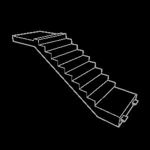 Precast Concrete Stairs Wire Frame Grey