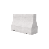 1500 Concrete Barrier 3D Render