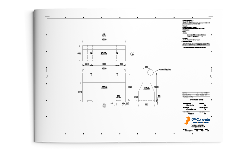 1.5m concrete barrier datasheet
