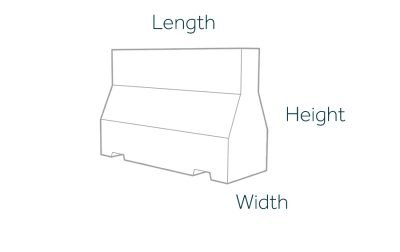 1500mm Concrete Barrier Dimensions