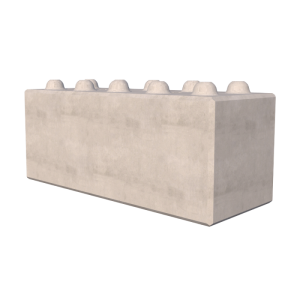 1500mm Interlocking Concrete Blocks Render