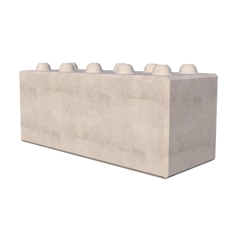 1500mm Interlocking Concrete Blocks