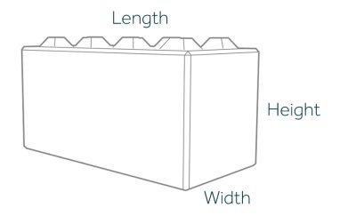 1600mm Lego Bock Dimensions