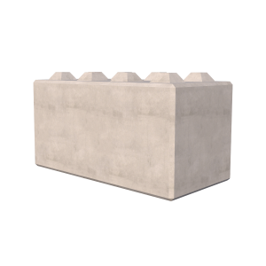 1600mm Interlocking Concrete Blocks Render