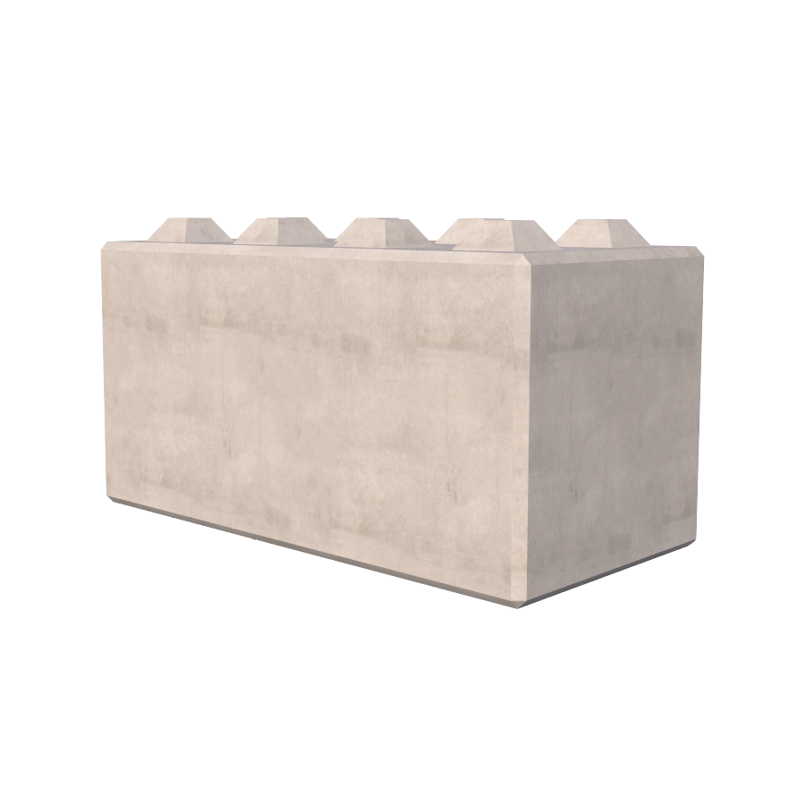 1600mm Interlocking Concrete Blocks