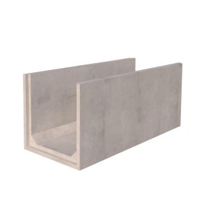 1m x 1m Concrete Channel Render