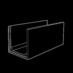 1m x 1m Concrete Channel Wire Frame Grey