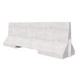2500 Concrete Barrier 3D Render