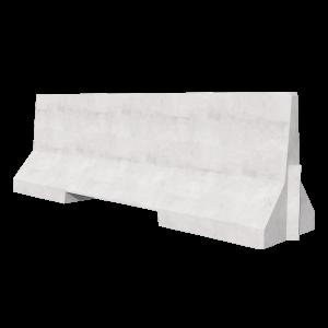 2500 Concrete Barrier 3D Render