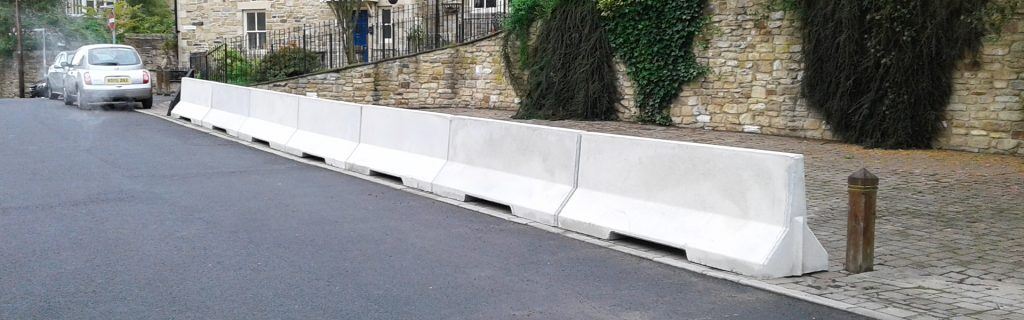 2500mm Concrete Barrier Banner