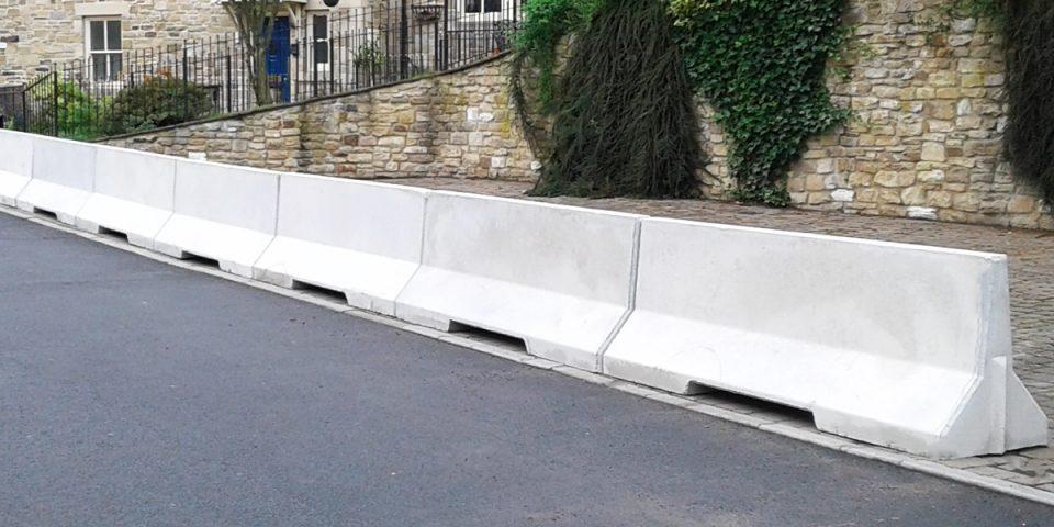 2500mm Concrete Barrier Banner
