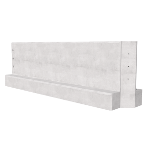 3000mm Concrete Barrier 3D Render