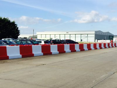 3m TVCB Concrete Barriers Painted