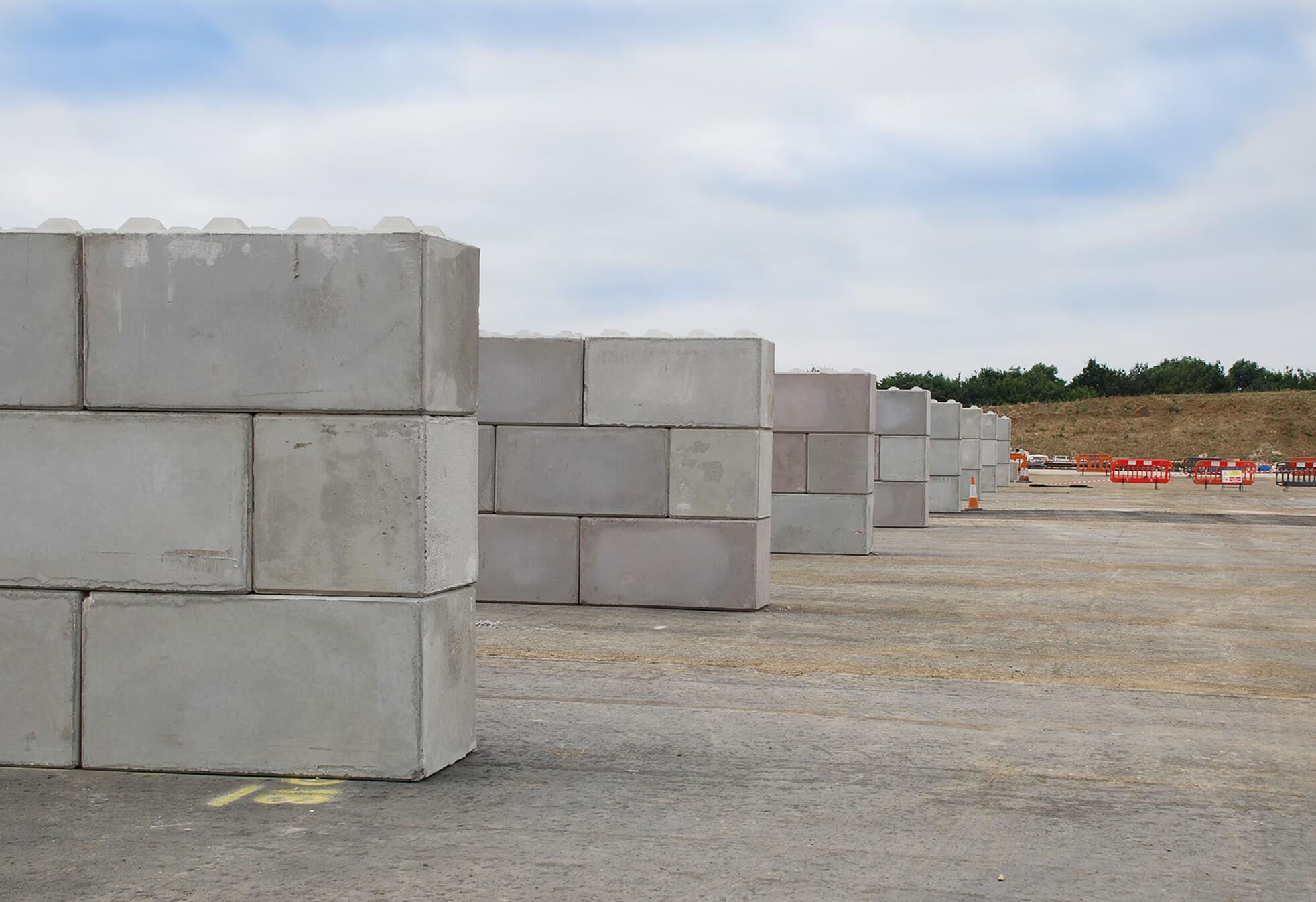 Construction Of Aggregate Storage Bays Jp Concrete