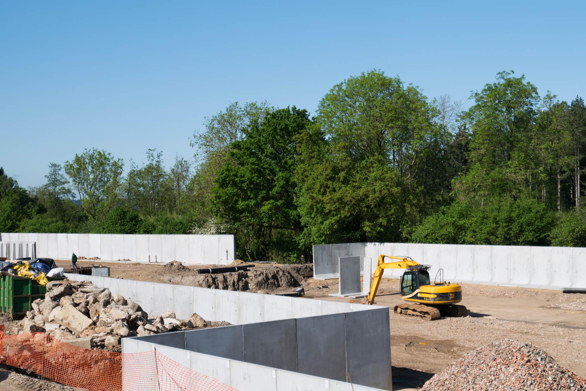 Free Standing Concrete Silage Panels Bespoke Concrete