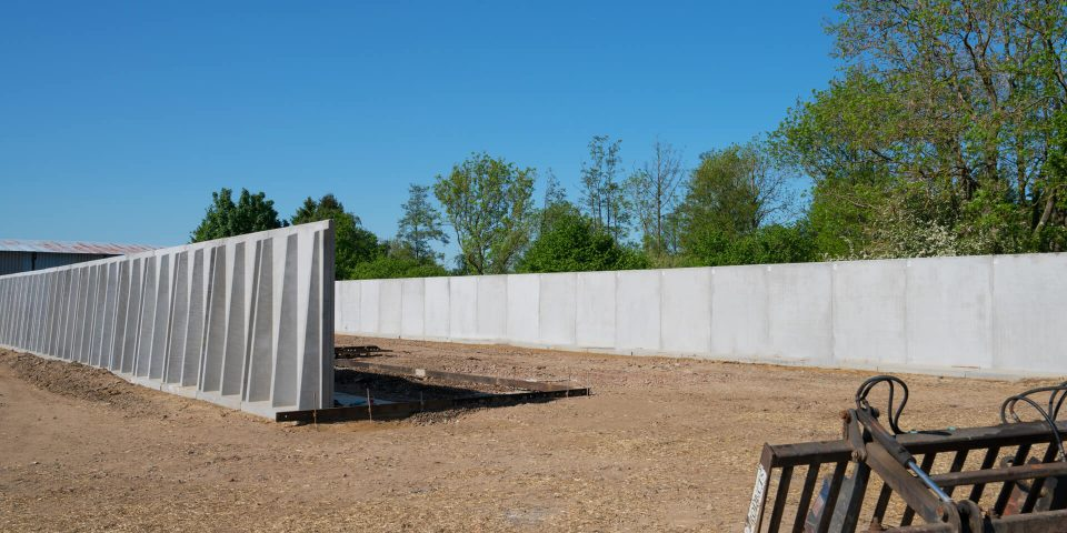 Anaerobic Digestion Silage Clamp Retaining Walls