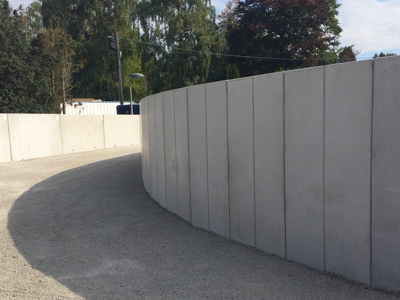 Bespoke Curved Retaining Wall