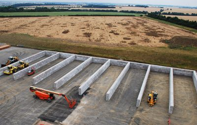 Interlocking Concrete Blocks Aggregate Storage Bays