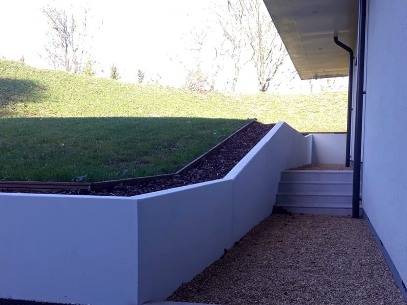 Sloping Retaining Wall
