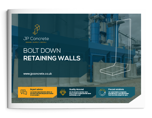 Bolt Down Retaining Wall Brochure Icon
