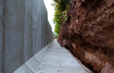 Earth Bank Retaining Wall