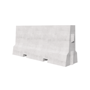 2000 Concrete Barrier 3D Render
