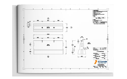 2m concrete barrier product datasheet