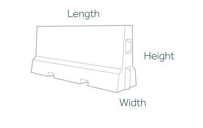 2000mm Concrete Barrier Dimensions