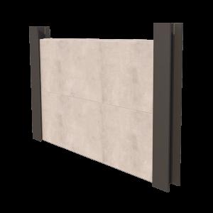 King Post Retaining Wall Render