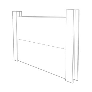 King Post Retaining Wall Wire Frame