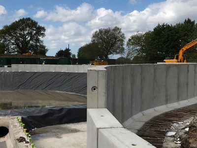 Access Road Precast Retaining Wall