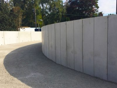 Curved Modular Precast Retaining Wall