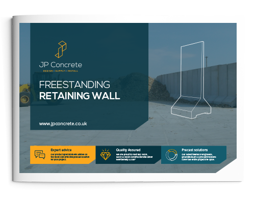 Freestanding Retaining Wall Brochure Icon