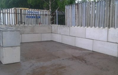 1500mm Interlocking Concrete Block Storage Bay