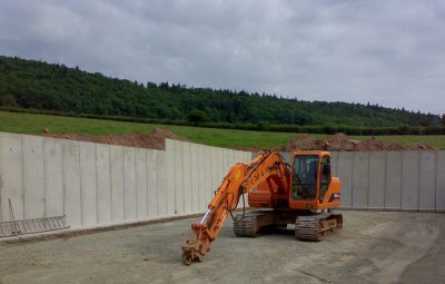 Cast In Retaining Wall Earth Bank Silage Clamp