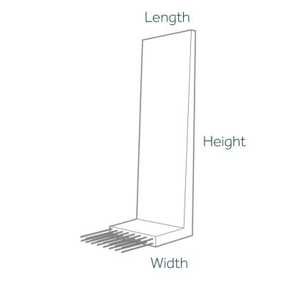 Cast In Retaining Wall Dimensions