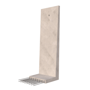 Cast In Retaining Wall 3D Render