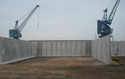Cast In Retaining Wall Storage Bay