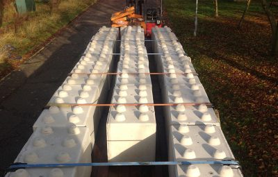 Concrete Interlocking Block Delivery