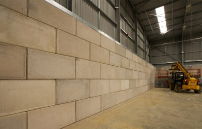Precast Retaining Wall Waste Storage Bay