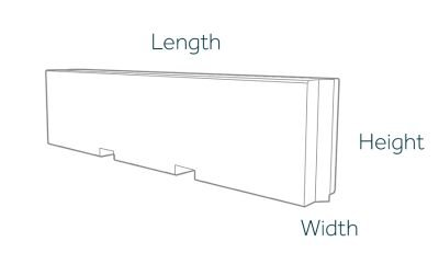 3000mm Hoarding Block Dimensions