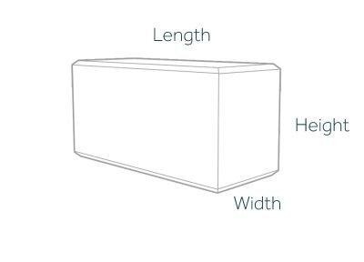 5760kg Concrete Ballast Block Dimensions