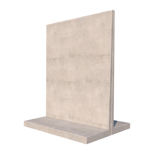 Agri T Retaining Wall 3D Render