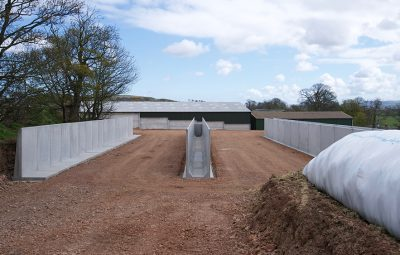 Dairy Farm Silage Clamp Retaining Walls