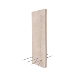 Vertical Cantilever Retaining Wall Render