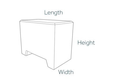 500kg Marquee Weights Dimensions