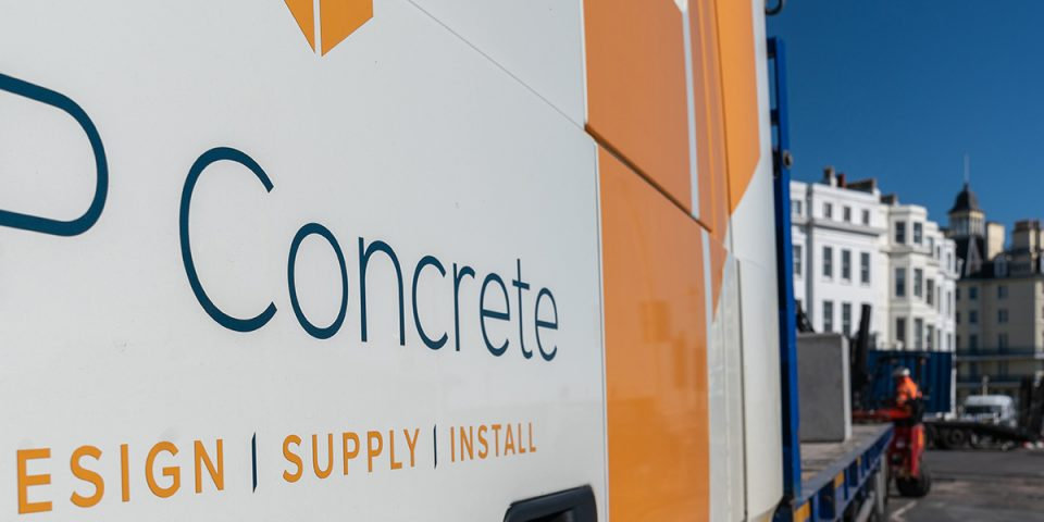 scaffolding ballast block installation in Eastbourne