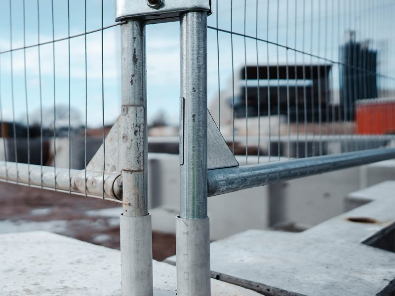Barrier With Fence Panel